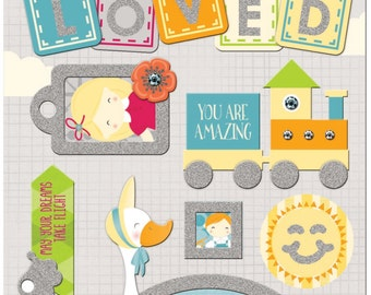 """BoBunny """"Toybox"""" Collection Layered Chipboard"""