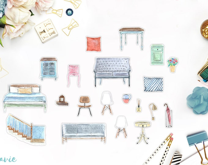Furniture sticker set, 20 pcs
