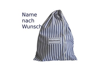 Laundry bag with desired name embroidered