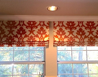 Faux (fake) flat roman shades, valance.  The perfect solution!  Your choice of fabric (up to 10 dollars/yard) included!!  Custom Sizing.