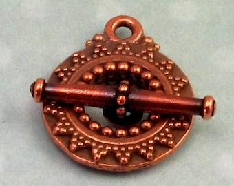 Bali Toggle Clasp, Antique Copper, TierraCast TC18