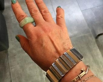 Glen Yank Cog Style Aluminum Bangle Bracelet 1980s Avant Garde New York City Punk