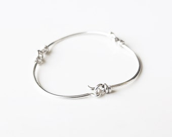 CLOUD OF WIRE Sterling silver bracelet. Thin chain. For her and for him.