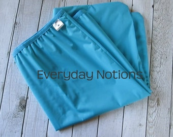 Turquoise - 13 gallon Reusable Garbage Pail Liner - Laundry Bag - Diaper Pail Liner