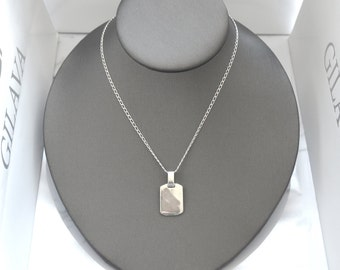 Sterling silver necklace Little Mitchell, silver 950, fine jewelry