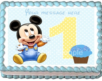 BABY MICKEY MOUSE Edible cake topper 1st year party