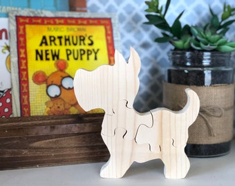 Wooden Small Dog Puzzle