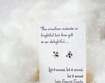 Secret santa snowflake earrings! Christmas