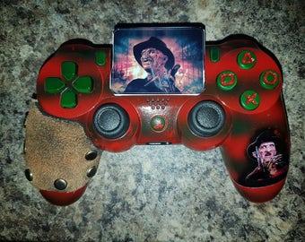 Custom Freddy Krueger - A Nightmare On Elm St - PS4 controller