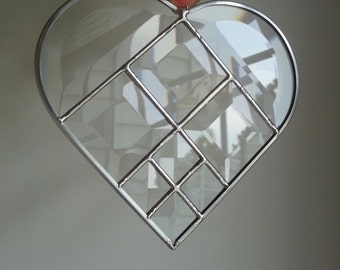 Large Stained Glass Beveled Heart