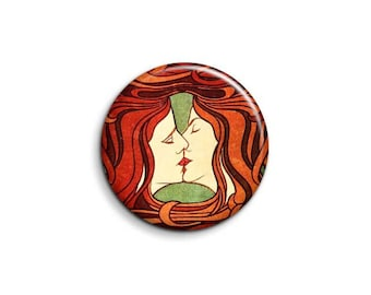 Peter Behrens The Kiss 1096 - pinback button or magnet 1.5 Inch