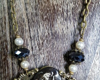 Black Angel necklace and beads