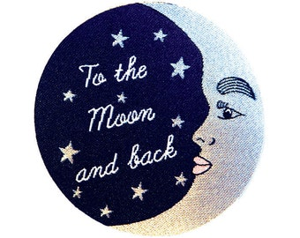 To the Moon and back Iron-on Patch