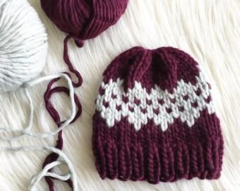 Jasper Beanie Knit Pattern // Fair Isle // Easy // Intermediate //
