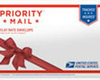 "PRIORITY MAIL Shipping Flat Rate in a Gift Envelope 10"" x 7"""