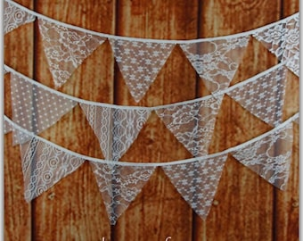 Lace banner, country wedding.