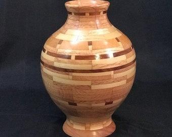 Wood turned Segmented Decorative Vase