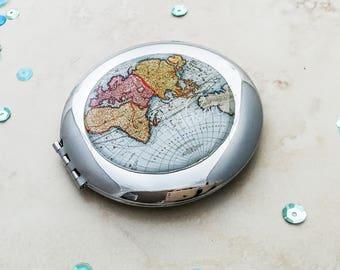Customised Mirror, Personalised Compact Mirror, Travel Gift for Her, Personalised Travel Gift