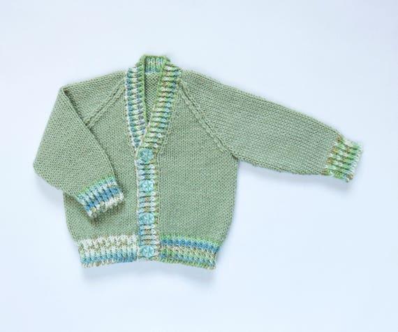 50b5da117c7a Baby Boys Colour Trims Cardigan . Hand Knit Cardigan. Hand