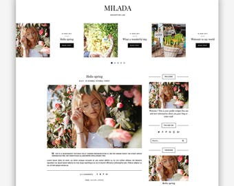 Milada | Responsive Minimalist Premade Blogger Template