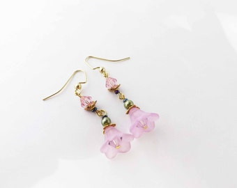 Swarovski Crystal Cherry Blossom Earrings