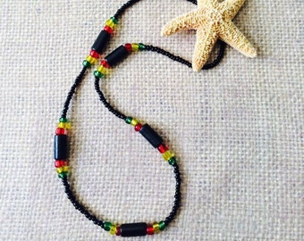 Rasta Wooden Necklace for Men & Women.
