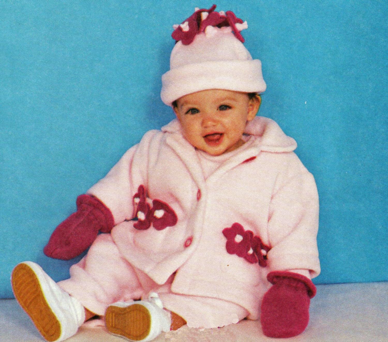 Polar fleece baby jacket pattern baby overalls jumpsuit hat zoom jeuxipadfo Image collections