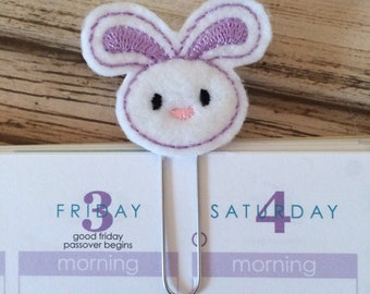 Easter Bunny Gifts, Rabbit Gifts, Bunny Planner Paperclip, Rabbit Planner Clip, Easter Bunny Bookmark, Rabbit Bookmark Clip - Pick Color