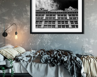 Rouss Building - New York Photography, Black and White, Architecture, Wall Art, NYC, Fine Art Print, Urban Art, Home Decor