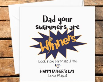 Sperm jokes etsy personalised handmade happy fathers day birthday card dad funny rude naughty message daddy naughty twat occasion stopboris Choice Image