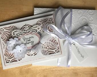 Wedding Card and Keepsake, Wedding card 3D with envelope box,