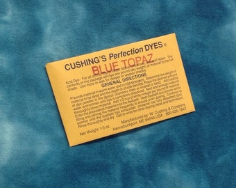 "Blue Topaz NEW ACID DYE from  W. Cushing & Co ""Perfection"" Acid Dye, 1/3 ounce package"