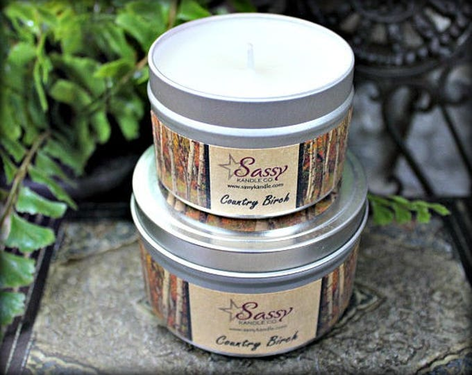 COUNTRY BIRCH | Candle Tin (4 or 8 oz) | Sassy Kandle Co.