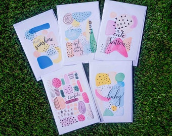 Newborn Gift Cards - Stationary