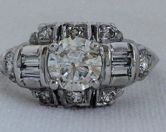 Art Deco 1.68 Carat Art Deco 1920's Diamond Ring
