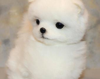 Pomeranian Spitz Realistic Dog Soft Plush Toy