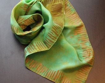 """Uneven Dyed Bandana 22""""x22"""" and Stamped"""