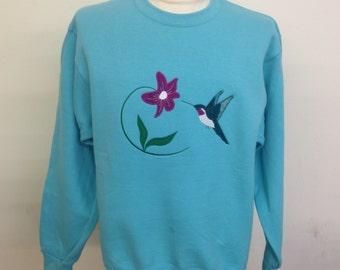 Hummingbird Applique Sweatshirt