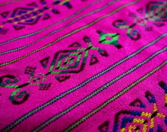 "Mexican  Pink Fabric 31"" width by one yard"