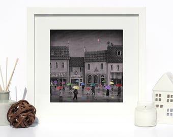 Umbrellas - Giclee Fine Art Print - Nursery/Kids room/home decor