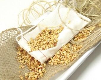 Vanilla Sandalwood scented Sachet, Linen Sachet, Natural Air Freshener, Home Fragrance, Drawer Sachets, Shoe Deodorizer - 3x5 Muslin Bag