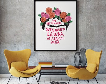 Frida Quote Print