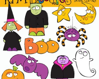 KPM Halloween Cuties digital clip art COMBO