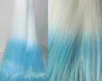 PASTEL FROST  Ombre Nylon Doll Hair for Custom OOAK/Rerooting