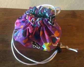 Drawstring yarn ball, accessories, makeup bag