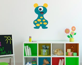 Monster Decal - Monster Wall Decor - Children Wall Decals - Printed - 7