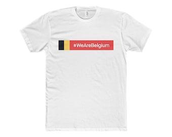 MenS Wearebelgium Shirt Cotton Crew Tee