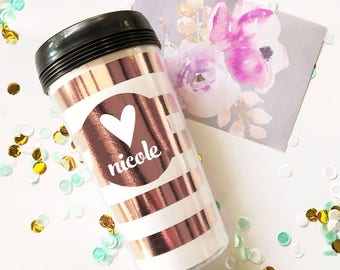 Travel Gifts for Women Custom Travel Mug Travel Tumbler Coffee Gifts for Gift Baskets Bridesmaid Coffee Cup Bridal Party Gifts  (EB3135)