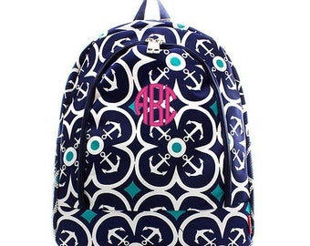 Monogrammed Backpack Personalized Anchor Away Backpack Personalized Backpack Kids Backpack Girls Backpack Boys Backpack