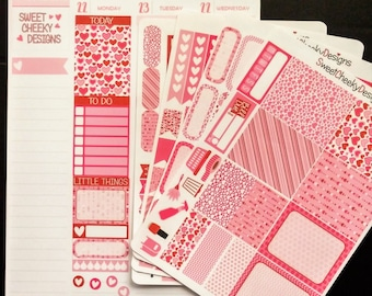 Sweetheart Weekly Planner Kit!  Available for Erin Condren Life Planner or MAMBI/Happy Planner